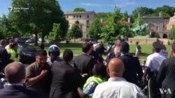 Përleshje përpara shtëpisë së ambasadorit turk në Washington