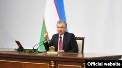 Шавкат Мирзиёев, раиси ҷумҳури Узбекистон.