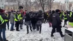 Митинг в поддержку Навального в Москве: кадры