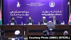 محبالله صمیم وزیر سرحدات و قبایل افغانستان در جلسه گزارشدهی دولت به ملت