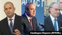 Румен Радев, Анастас Герџиков, Лозан Панов - кандидати за претседател на Бугарија