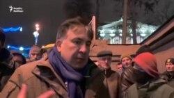 Saakaşvili qarşıdurma haqda: 'Bu, Poroşenkonun oyunudur'