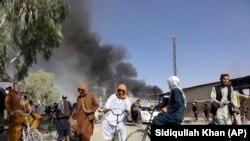 Kandahár a tálibok és a biztonsági erők közötti harcokat követően 2021. augusztus 12-én