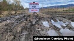 Дорога в Баушево