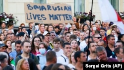 У Мінську й інших містах Білорусі від вечора 9 серпнятривають акції протесту