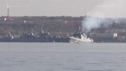 Російський фрегат із ракетами поплив із Севастополя в Середземне море (відео)
