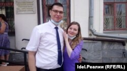 Andrei Shchepin and his wife, Ksenia