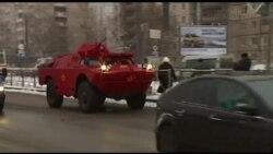 Zirehli döyüş maşını şəhərdə taksi oldu