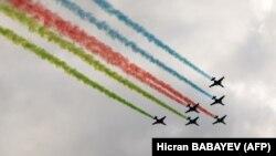 Авиация на параде в Баку, 10 декабря 2020 года