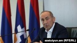 Экс-президент Армении Роберт Кочарян, Ереван, 4 октября 2021 г.