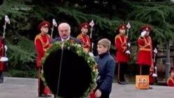 Лукашэнка ўпершыню наведвае Грузію ВІДЭА