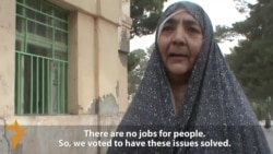 Afghan Woman Voter: 'I Voted To Bring Peace To Our Country'