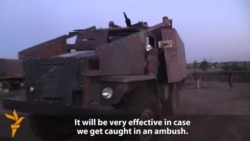 Ukrainian Soldiers Build Their Own 'Fortress On Wheels'