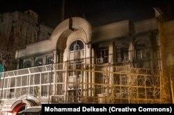 Damage to the Saudi Embassy in Tehran in 2016