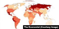 Numărul deceselor COVID-19 estimat pentru fiecare țară