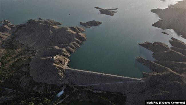 نمای هوایی از سد دهله در افغانستان که ۷۰ سال پیش توسط آمریکاییها ساخته شد.
