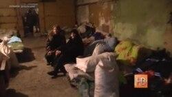 Бомбасховішча ў разбураным вайной Дэбальцаве