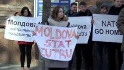 Protest PSRM anti-NATO la Chișinău.