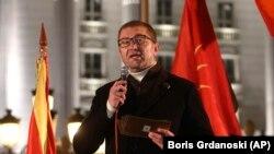 Kreu i VMRO-DPMNE-së, Hristijan Mickoski. Fotografi nga arkivi.