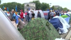 В Кишиневе прошла многотысячная акция протеста против действующих властей