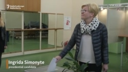 Front-Runners Cast Ballots In Lithuanian Presidential Election