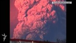 Çilinin şimal şərqində Calbuco vulkanı püskürüb