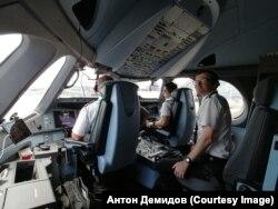 Первый полет наблюдателем в кабине А350