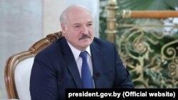 Лукашэнка ў час інтэрвію Sky News Arabia 19 ліпеня 2021