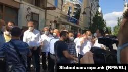 Втор протест на ВМРО-ДПМНЕ против поскапувањето на струјата. 11.09.2020.