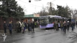 Kiyev və separatçılar dayanacaq olayında bir birlərini ittiham edirlər (Rus dilində)