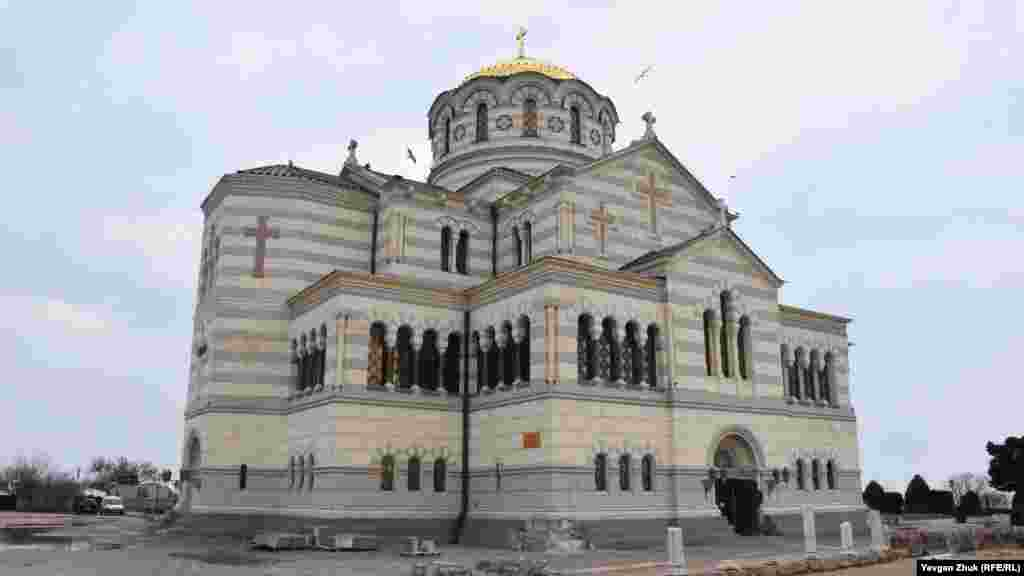 Свято-Владимирский собор в Херсонесе, восстановленный под патронатом второго президента Украины Леонида Кучмы, российские власти планируют отремонтировать