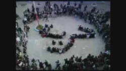 "Students in Tunis arranged word ""Freedom"""
