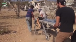 Aftermath Of School Bombing In Idlib, Syria