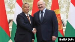 Виктор Орбан и Александр Лукашенко, Минск, 5 июня 2020