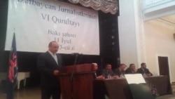 Azərbaycan jurnalistlərinin VI qurultayından ilkin görüntülər