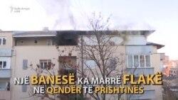 Digjet një banesë në qendër të Prishtinës