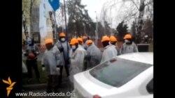 Невідомі в масках влаштували антикорупційну акцію в метро