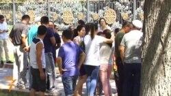 Supporters Of Dismissed Judge Protest In Bishkek