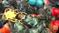 Под завалами в Непале через 6 дней после землетрясения нашли подростка