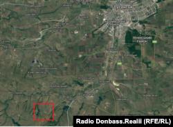Місце дислокації техніки (виділене червоним) у прив'язці до місцевості