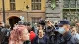 Акция в поддержку Хабаровска в Петербурге