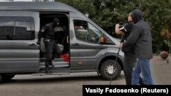 Маркази Минск, 27 август. Полис журналистонро боздошт мекунад
