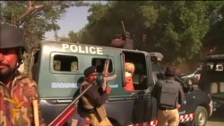 Clashes At Pakistan Charlie Ebdo Protest