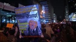 Тысячы дэманстрантаў у ЗША пратэставалі супраць абраньня Трампа (відэа)