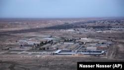 Авиабаза Айн-аль-Асад в иракской провинции Анбар на снимке, снятом с высоты. 29 декабря 2019 года.