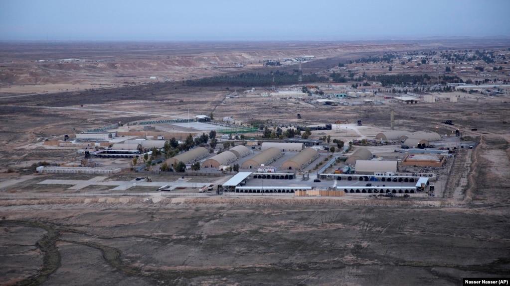 یک نمای هوایی از پایگاه عینالاسد در عراق