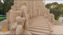 Выставка песочных скульптур, от царя Соломона до Тарзана, открылась в Израиле