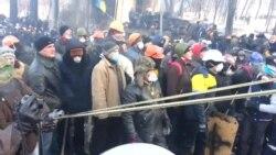 Новые бои на баррикадах в Киеве