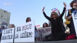 Podgorica: Protest 'Ne mogu da dišem'