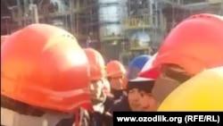 Забастовка рабочих ООО Nuriston Teks Group.